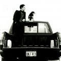 Lang with her dog, Jillian, in the Chevrolet 454 SS on the waterfront in Vancouver, B.C.