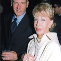 Ina and Harrison Ford at Morton's in Beverly Hills.