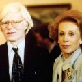Ina and Andy Warhol at the Factory circa 1984.