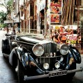 Bhogilal's 1934 3.5-liter Bentley, above in Bombay.