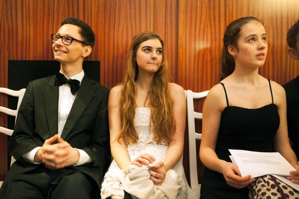 Young students wait to rehearse the waltz at Elmayer Dance School (Reiner Riedler)